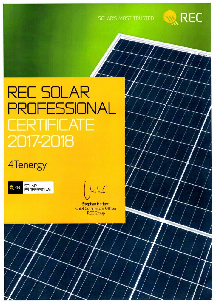 Certificado REC instalador